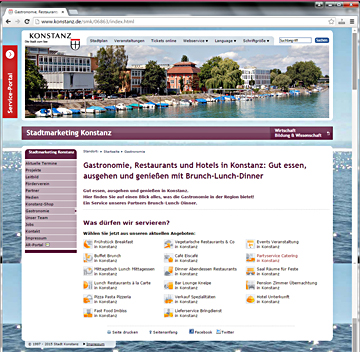 Konstanz Stadtmarketing WEB Screenshot